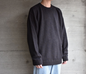 crepuscule「 Whole Garment L/S Knit :Black 」