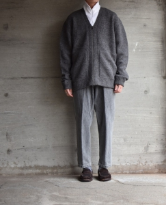 crepuscule 「 Whole Garment V/N Zip Cardigan :Gray 」