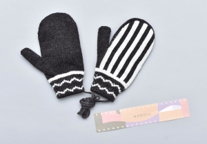 NOROLL「 MODERN STRIPE GLOVE / BLACK 」