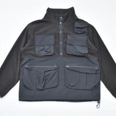 COMFORTABLE REASON「Fisherman's warm jacket / BLACK×BLACK」
