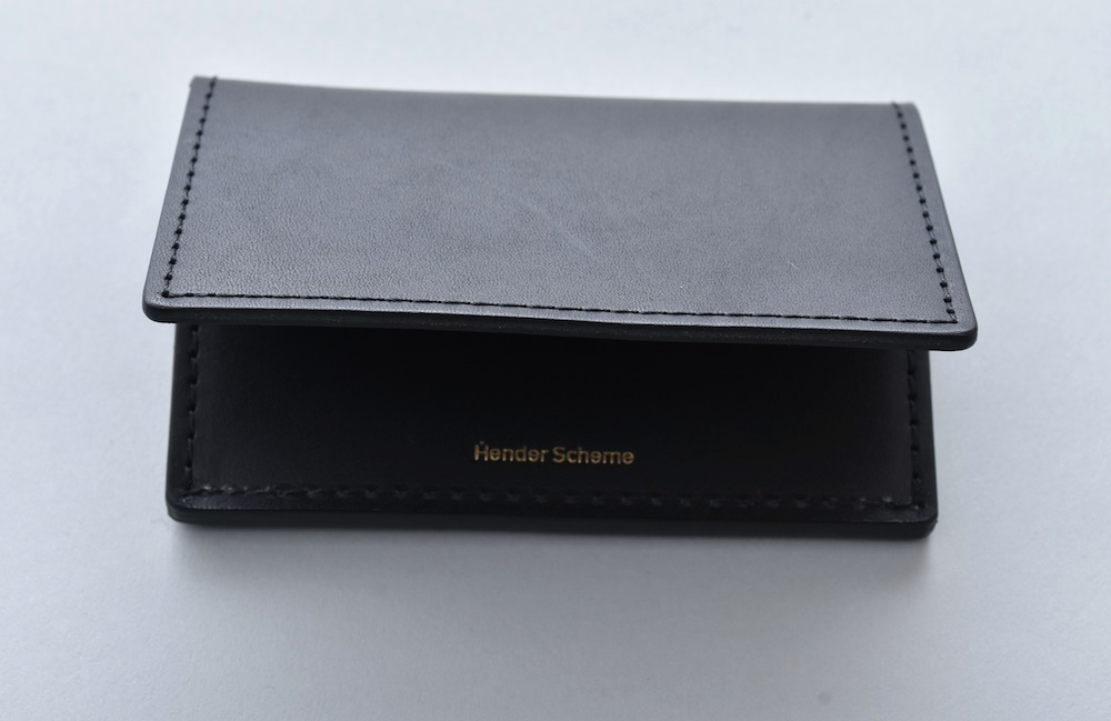 Hender Scheme 「 folded card case / black 」
