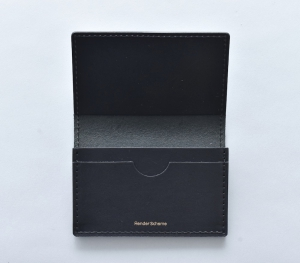 Hender Scheme 「 folded card case / black 」--01