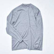 crepuscule「Merino wool L/S knit:Gray」 *spot item