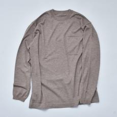 crepuscule「Merino wool L/S knit:Brown」 *spot item