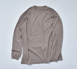 crepuscule「Merino wool L/S knit:Brown」 *spot item
