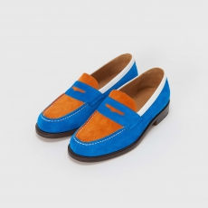 Hender Scheme「typical color exception loafer / #02 blue×orange」