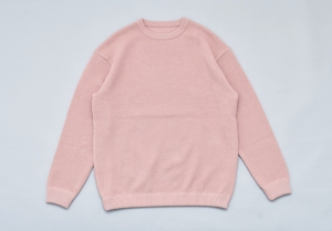 crepuscule 「 moss stitch L/S sweat / pink 」
