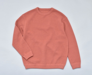 crepuscule 「 moss stitch L/S sweat / Orange 」