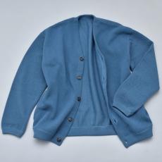 crepuscule 「 moss stitch cardigan / Blue green 」
