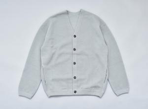 crepuscule 「 moss stitch cardigan / L.Green 」