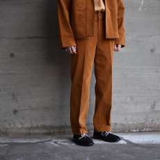 AURALEE 「 WASHED CORDUROY SLACKS / CAMEL BROWN 」