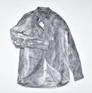 FRANK LEDER 「INK DYED VINTAGE BEDSHEET OLD STYLE SHIRT」