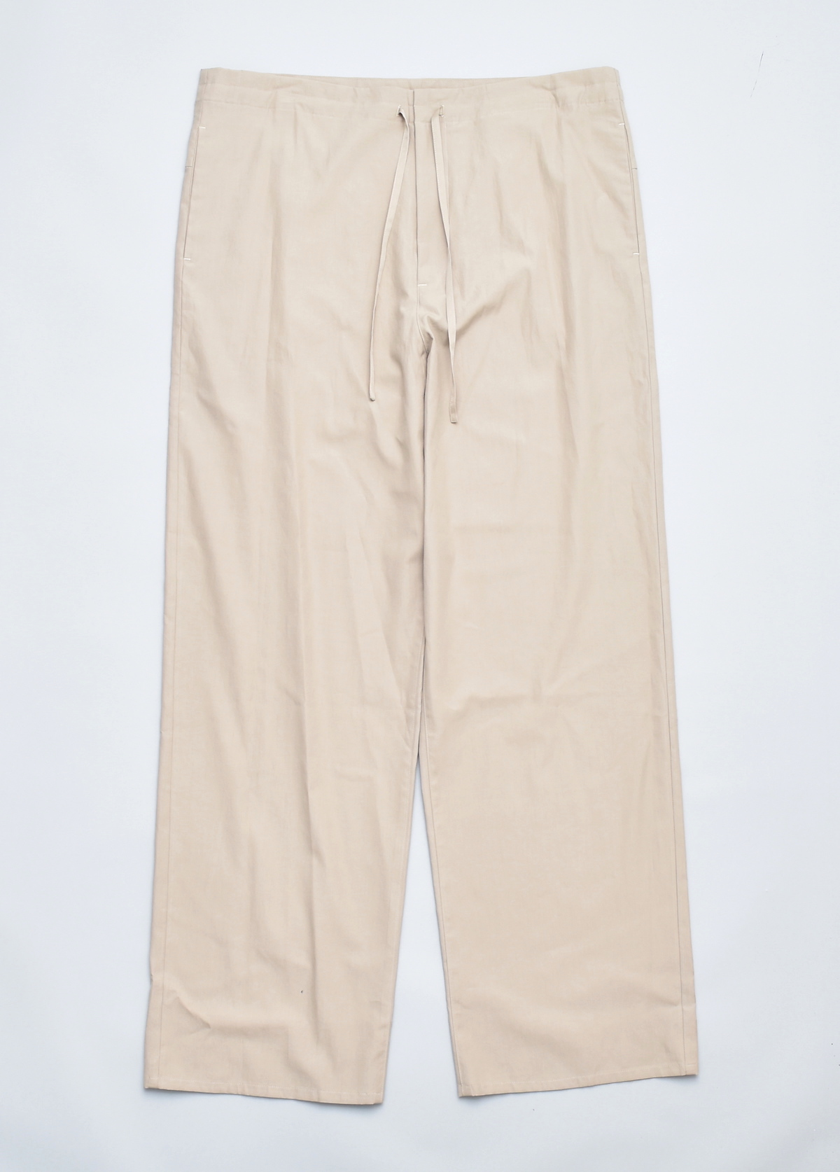 AURALEE「 WASHED FINX TWILL EASY WIDE PANTS / GRAY BEIGE 」