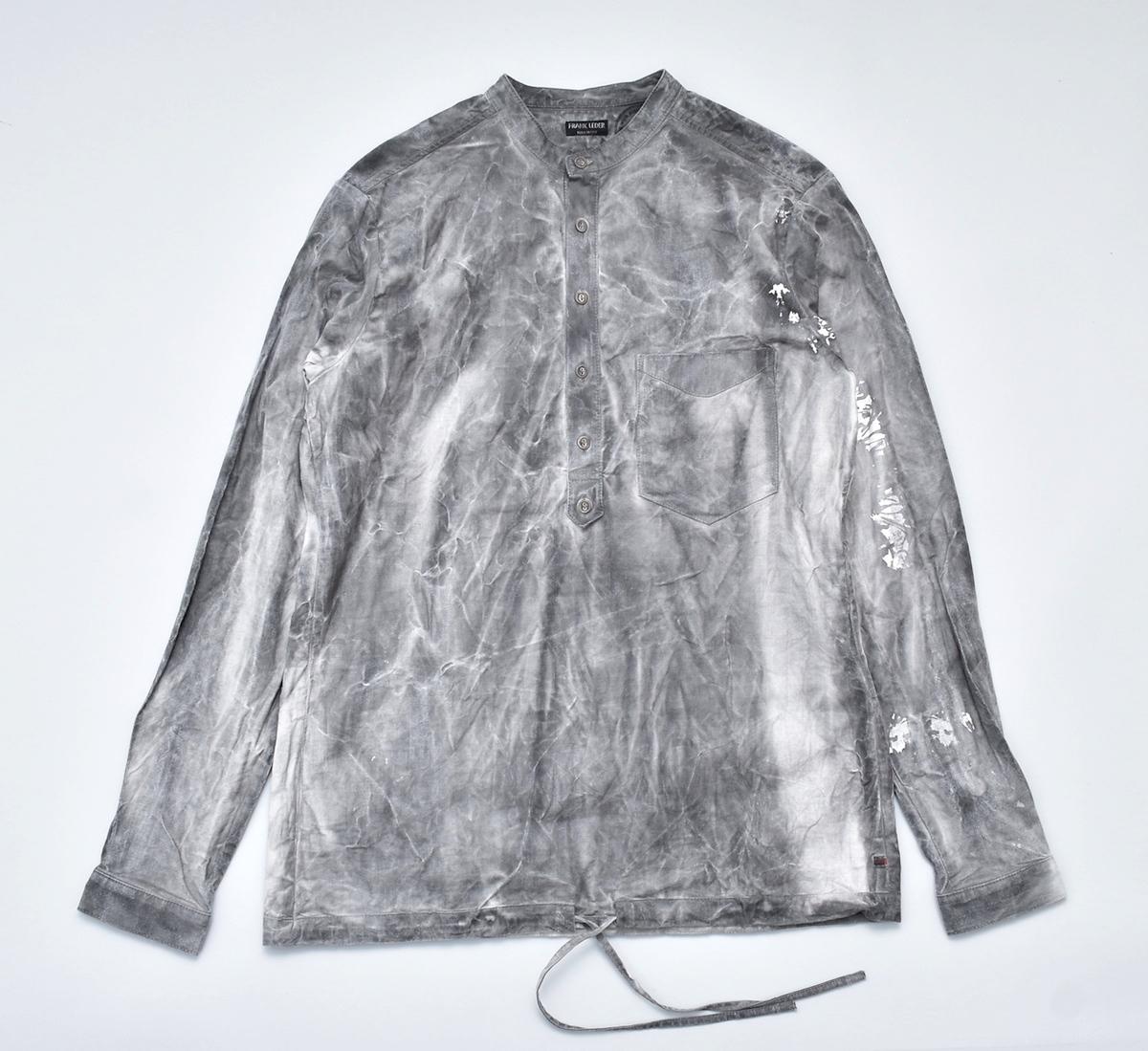 FRANK LEDER 「INK DYED VINTAGE BEDSHEET PULLOVER SHIRT」