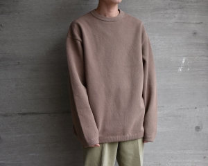 crepuscule 「 Moss Stitch L/S / Brown 」