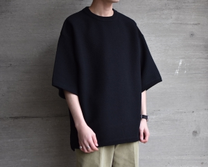 crepuscule「 Tuck Knit / Black 」