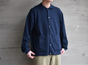 crepuscule 「 Knit Shirts / Navy 」