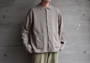 crepuscule 「 Knit Shirts / Graybeige 」