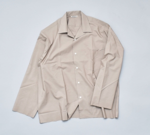 AURALEE「SELVEDGE WEATHER CLOTH OPEN COLLARED SHIRTS / GRAY BEIGE」