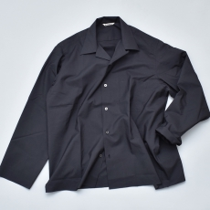 AURALEE「SELVEDGE WEATHER CLOTH OPEN COLLARED SHIRTS / INK BLACK」