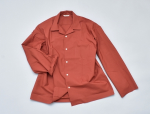 AURALEE「SELVEDGE WEATHER CLOTH OPEN COLLARED SHIRTS / BRICK RED」