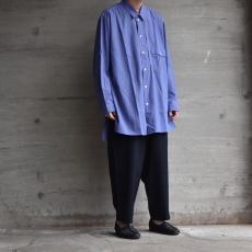 ESSAY 「 SH-1 : GATHER SHIRT / purple grey 」