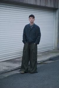 ESSAY 「 P-4 : GOTHIC PANTS / khaki 」