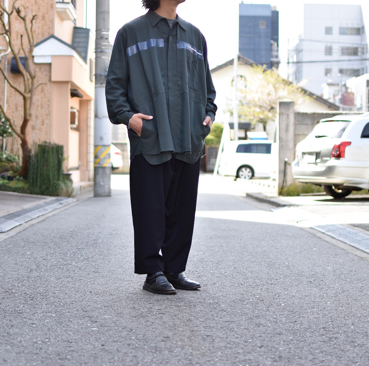 ESSAY 「SH-4 : CUT OFF JUMPSUIT / green 」