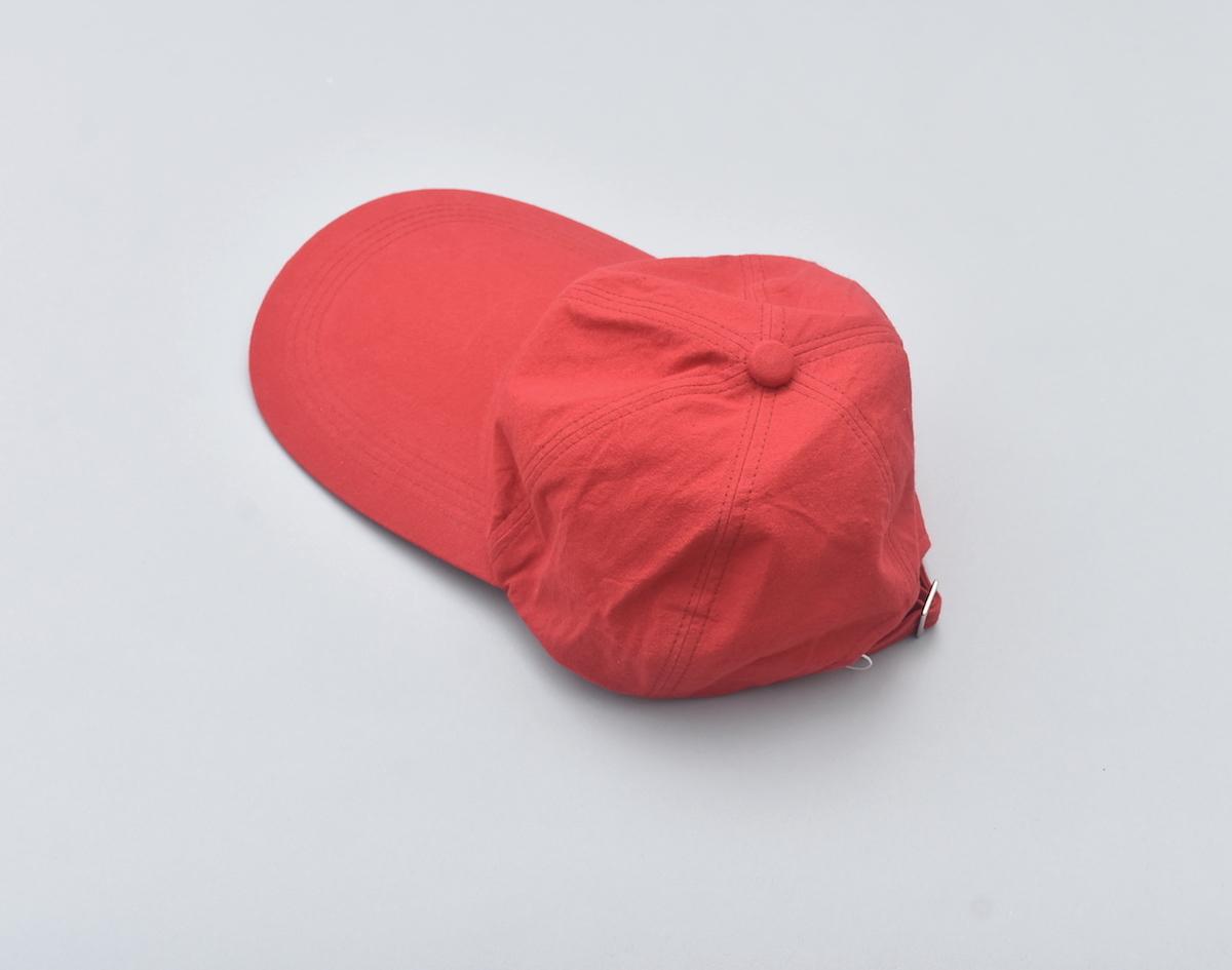 WHOWHAT 「 LONG BRIM CAP / RED 」
