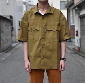COMFORTABLE REASON 「 Panama cloth Safari shirts / OCHER」