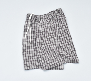 COMFORTABLE REASON 「 Pile pocket 2 tack Lounge shorts / Olive × Brown」