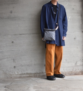 "WHOWHAT「 WRAP BAG "" XS "" / DUNGAREE GRAY 」"