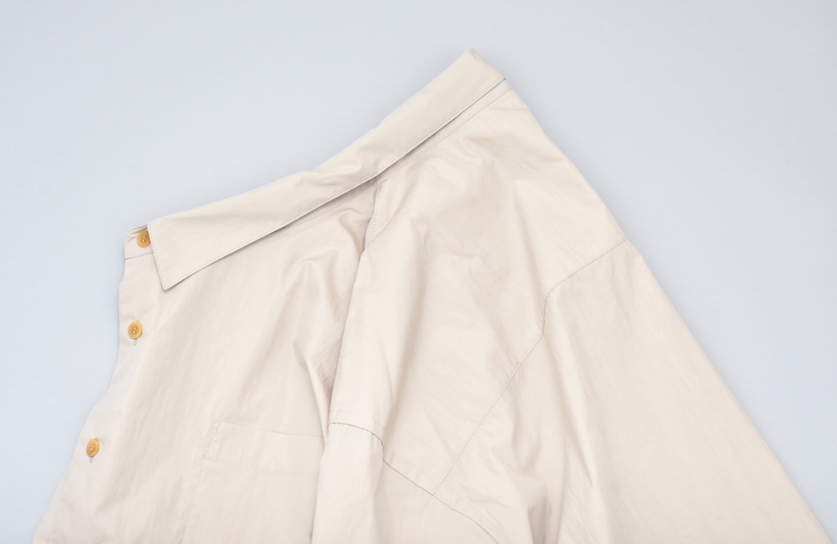 WHOWHAT「 5X SHIRT〈SHORT × LONG〉/ BEIGE *limited spot item 」