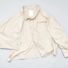 WHOWHAT「 5X SHIRT〈SHORT × LONG〉/ BEIGE *limited spot item 」