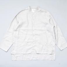 AUGUSTE-PRESENTATION PajamaLook「リネンシーツ長袖スタンドカラーシャツ / L.GREY 」