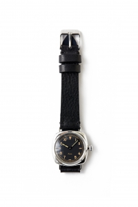 OLD JOE BRAND.「EXCELSIS (WRISTWATCH) / BADARASSI LEATHER - SILVER x BLACK LEATHER 」