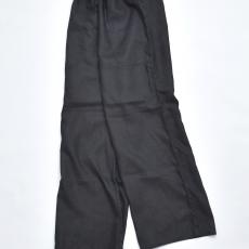 AUGUSTE-PRESENTATION PajamaLook「リネンシーツ ワイドイージーパンツ / BLACK 」