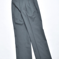 AURALEE 「 WOOL KID-MOHAIR GABARDINE WIDE SLACKS 」