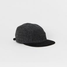 Hender Scheme「tweed jet cap / black&gray 」