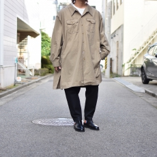 WHOWHAT 「 5X SHIRT TYPE-2〈LONG〉/ KHAKI 」