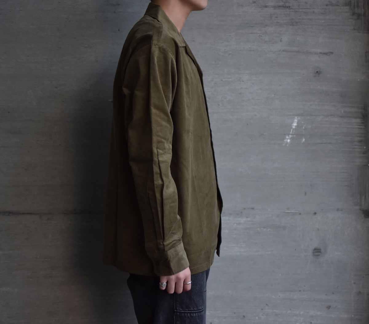 BROWN by 2-tacs 「 OPEN COLLAR / OLIVE 」
