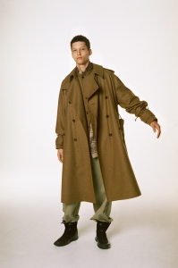 AURALEE 「 WOOL CASHMERE FLANNEL BIG TRENCH COAT 」