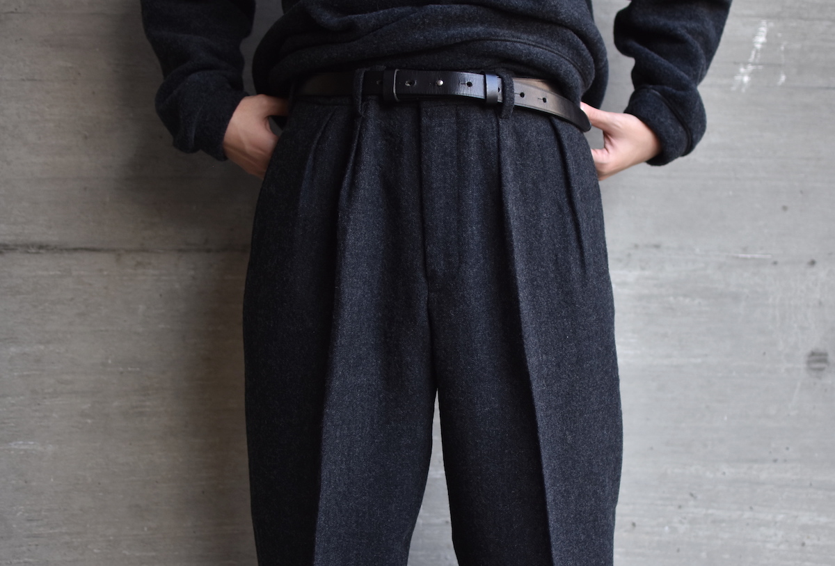 BROWN by 2-tacs 「 WIDE SLACKS / CHARCOAL 」