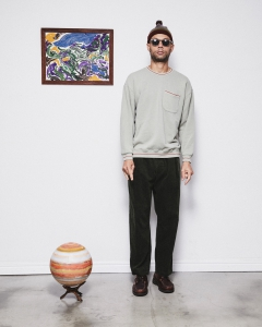 COMFORTABLE REASON 「 Pile Loop Line Sweat / MINT 」