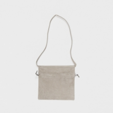 Hender Scheme「 red cross bag small / light gray」