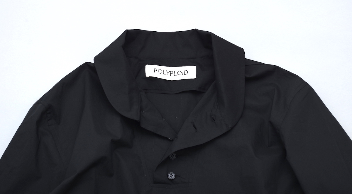 POLYPLOID「MILITARY HENLY NECK PULLOVER TYPE-C / BLACK」
