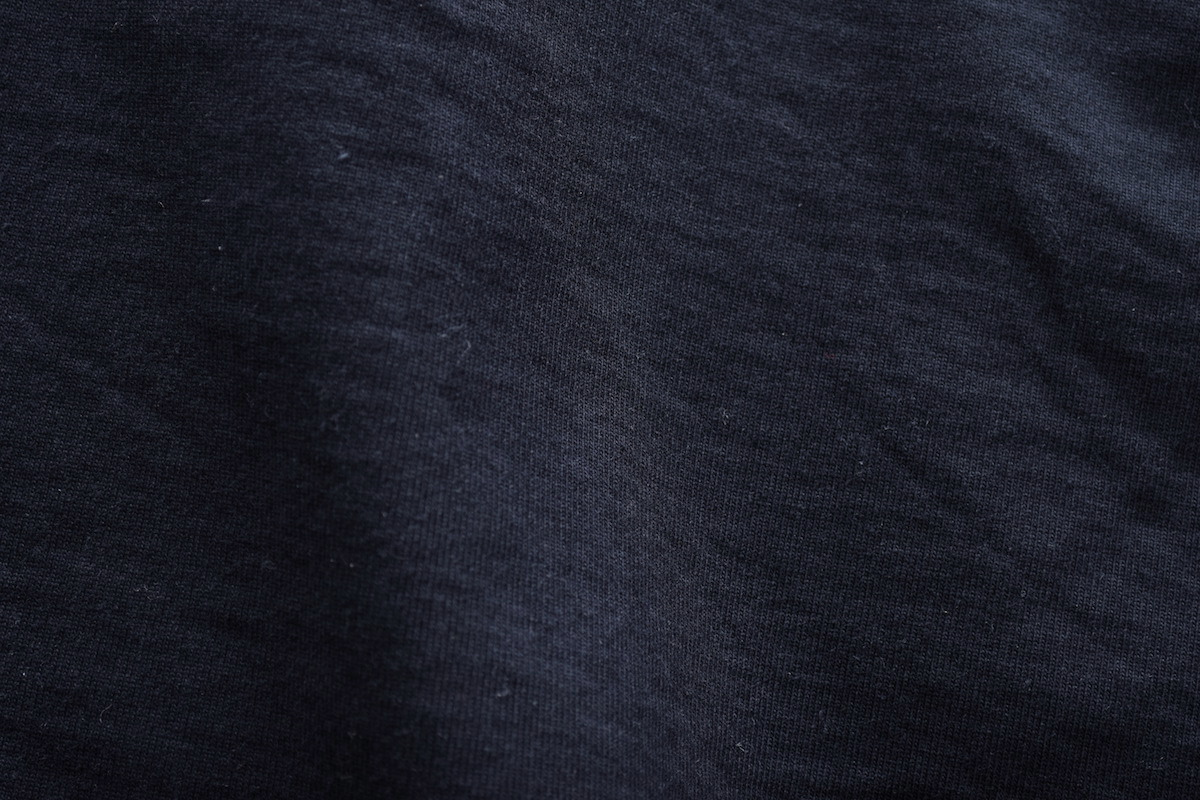 AURALEE 「 STAND-UP TEE / BLACK 」