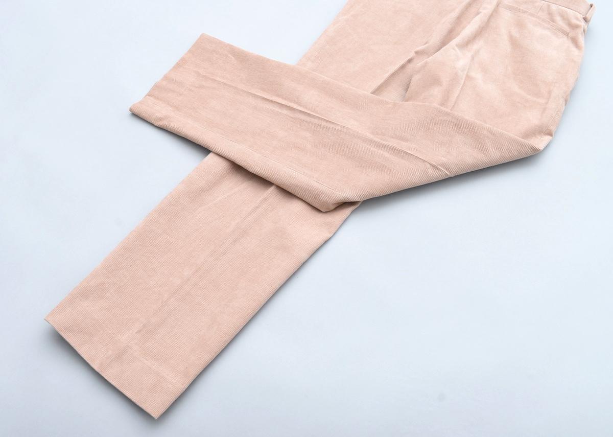 AURALEE「 HEMP CORDUROY SLACKS / PINK BROWN 」