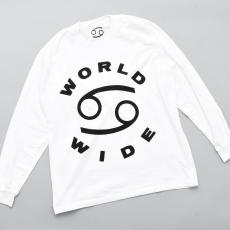 69 (SIXTY NINE) 「69 WORLD WIDE LONG SLEEVE TEE / WHITE/BLACK INK」