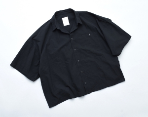 "WHOWHAT「 ""5X SHIRT"" SHORT SLEEVE / SHORT LENGTH - BLACK 」"